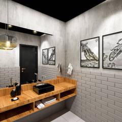 Banheiro Estudio Motocross: Banheiros modernos por Patricia Moreno A R Q U I T E T U R A