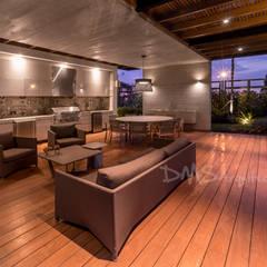 TERRAZA: Casas de estilo moderno por DMS Arquitectas