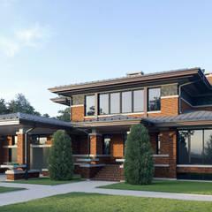 Дом в стиле Райта: Дома в . Автор – Архитектурное бюро Art&Brick,