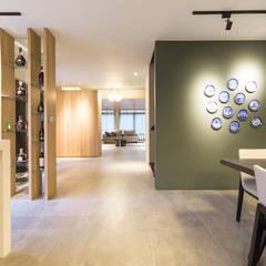 療癒樂活環境-半山景觀別墅:  餐廳 by 果仁室內裝修設計有限公司