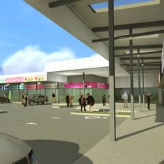 STRIP CENTER ALERCE: Centros Comerciales de estilo  por surarquitectura