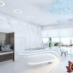 Private clinic Interior design from Katrina Antonovich:  Clinics by Luxury Antonovich Design, Modern