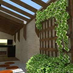Área de lazer em residencia: Jardins de inverno rústicos por Barbara Palermo Szucs Interiores