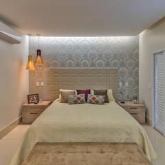 Projeto residencial  em condomínio fechado: Quartos  por 360+ arquitetura e interiores,Moderno