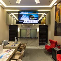 Loja Turismo e Câmbio - AXBR: Shopping Centers  por Mindu Arquitetura