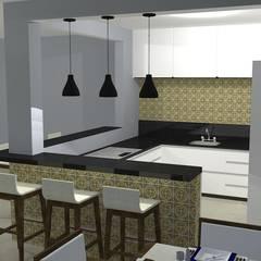 Espaço Gourmet e área de lazer: Piscinas  por Studio Beatriz Neves