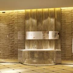 朱水集思-北京磐古七星酒店:  浴室 by 舍子美學設計有限公司
