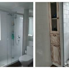 Remodelación Departamento vivienda: Baños de estilo  por Construcción y Arquitectura Sustentable Spa.