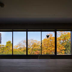 Kyoto office: 一級建築士事務所 こよりが手掛けた窓です。,