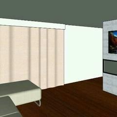 proyecto salitre: Salas multimedia de estilo  por Mobelmuebles, Minimalista
