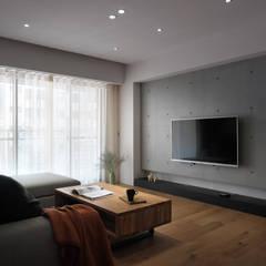 【幸福】我們也想讓別人感受這份簡單樸素的幸福:  客廳 by 璞延空間設計