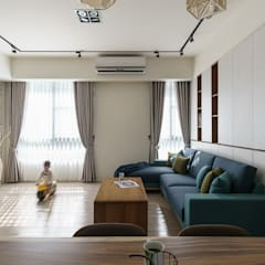 Living room by 橡樹設計Oak Design, Eclectic