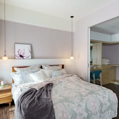 eclectic Bedroom by 橡樹設計Oak Design