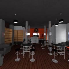 Agencement Panda Café: Locaux commerciaux & Magasins de style  par relion conception