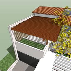 Detalle de pergola de madera: Terrazas de estilo  por MARATEA Estudio