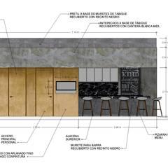 FACHADA-ACABADOS: Restaurantes de estilo  por ARKTRES