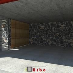 Garage/shed by Urbe. Taller de Arquitectura y Construcción
