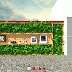 Tlalnecapan · Casa dinámica: Paredes de estilo  por Urbe. Taller de Arquitectura y Construcción