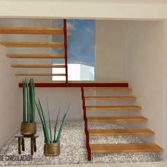 Pasillos y vestíbulos de estilo  por Urbe. Taller de Arquitectura y Construcción, Minimalista