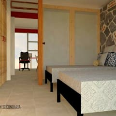 Tlalnecapan · Casa dinámica: Recámaras infantiles de estilo  por Urbe. Taller de Arquitectura y Construcción