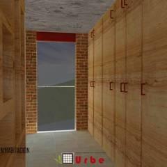 Tlalnecapan · Casa dinámica: Vestidores y closets de estilo  por Urbe. Taller de Arquitectura y Construcción