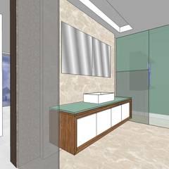 Baño habitación principal: Baños de estilo  por MARATEA Estudio