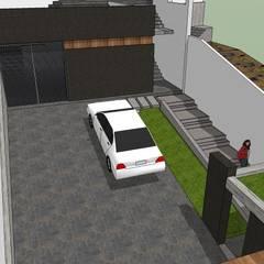 Casa en la Unión: Garajes y galpones de estilo  por MARATEA Estudio,