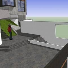 Casa en la Unión: Terrazas de estilo  por MARATEA Estudio, Minimalista