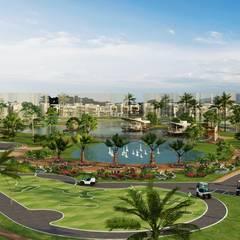 Diseño arquitectonico / urbano paisajista - Novaterra Ocean City / Grama construcciones: Jardines de estilo  por ecoexteriores