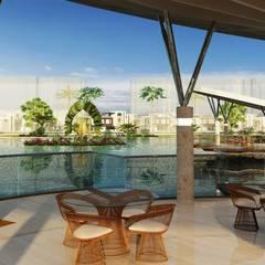 Diseño arquitectonico / urbano paisajista - Novaterra Ocean City / Grama construcciones: Terrazas de estilo  por ecoexteriores