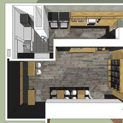 Vista superior: Restaurantes de estilo  por MARATEA Estudio