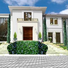Diseño de jardin italiano / Casa en Barranquilla: Jardines de estilo clásico por ecoexteriores