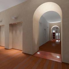 Der Umbau der Villa Hermannshof- Gang im 1.OG:  Kongresscenter von Peter Stasek Architects - Corporate Architecture