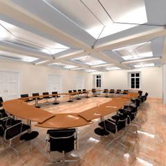Der Umbau der Villa Hermannshof - Konferenzraum EG - Var. Sitzung I:  Kongresscenter von Peter Stasek Architects - Corporate Architecture