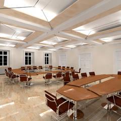 Der Umbau der Villa Hermannshof - Konferenzraum EG - Var. Sitzung II:  Kongresscenter von Peter Stasek Architects - Corporate Architecture