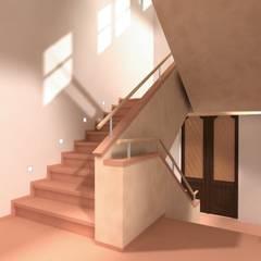 Der Umbau der Villa Hermannshof - Haupttreppenhaus nach dem Umbau:  Kongresscenter von Peter Stasek Architects - Corporate Architecture