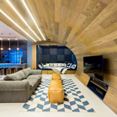Urban Man Cave:  Living room by Inhouse , Industrial