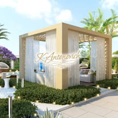 ​  Landscape design ideas of Katrina Antonovich:  Houses by Luxury Antonovich Design, Mediterranean