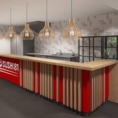 3d impressie 1 Sushi:  Gastronomie door Anne-Carien Interieurarchitect