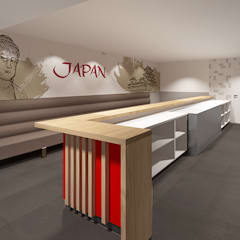 3d impressie 2 Sushi:  Gastronomie door Anne-Carien Interieurarchitect