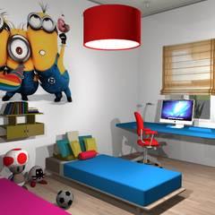 Dormitorio de niños: Dormitorios infantiles de estilo  por Diseño de Locales