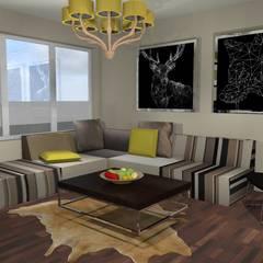 Diseño de Vivienda Unifamiliar Caballito: Salas multimedia de estilo  por Diseño de Locales
