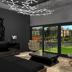 Diseño de vivienda unifamiliar en barrio cerrado Los Cardales: Dormitorios de estilo  por Diseño de Locales,Moderno