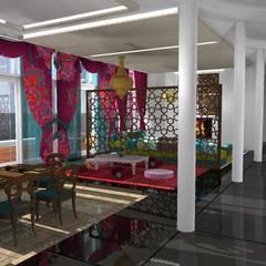 Diseño de vivienda unifamiliar en barrio cerrado Los Cardales: Livings de estilo  por Diseño de Locales