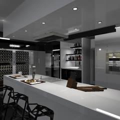 Diseño de vivienda unifamiliar en barrio cerrado Los Cardales: Cocinas de estilo  por Diseño de Locales