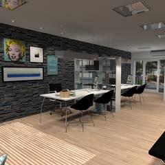 Diseño de Oficina general: Oficinas y Tiendas de estilo  por Diseño de Locales