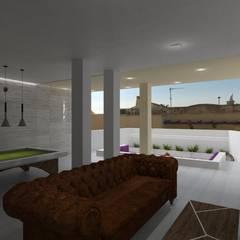 Casa Pearson: Salas multimedia de estilo  de PL Architecture