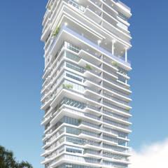 Casas de estilo  por LEONARDO CABRAL ARQUITETURA, Moderno Mármol