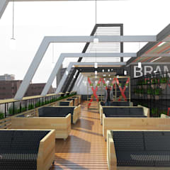Day view of the deck area:  Bars & clubs by A4AC Architects