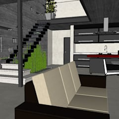 Casa SC: Livings de estilo minimalista por Development Architectural group